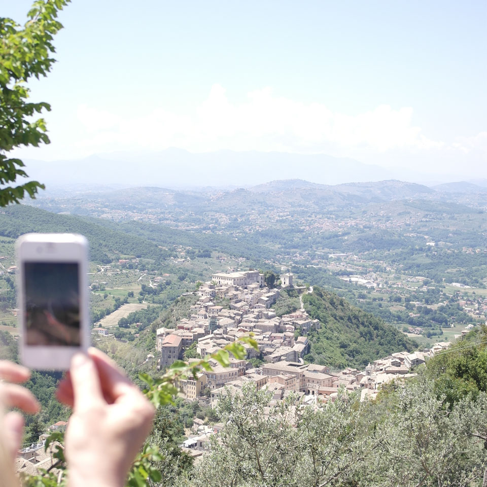 Arpino vista dall'Acropoli di Civitavecchia