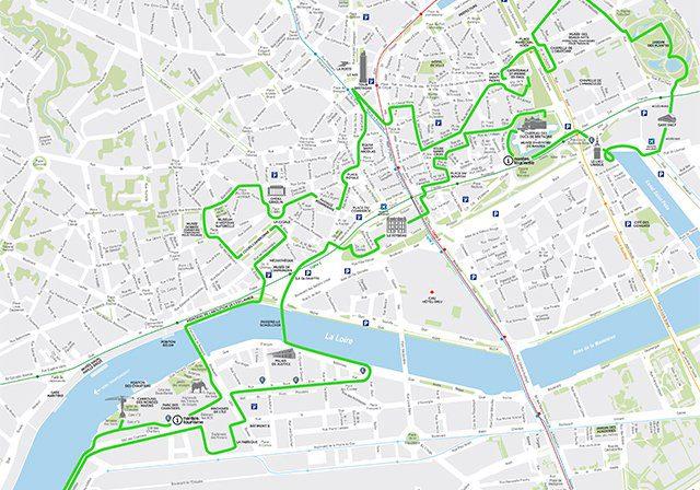 Mappa di Nantes